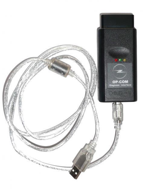 Адаптер OP-COM для диагностики автомобилей Opel, Saab.